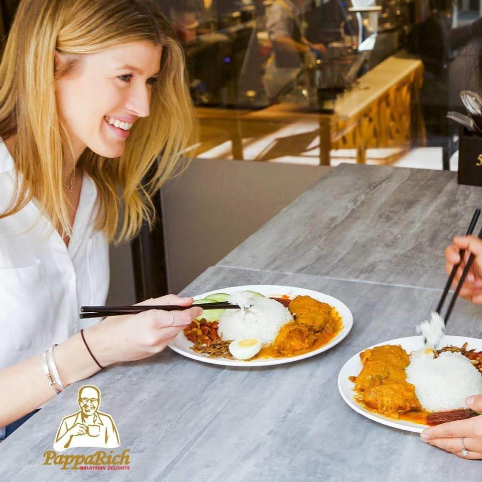 nasi lemak chopstick